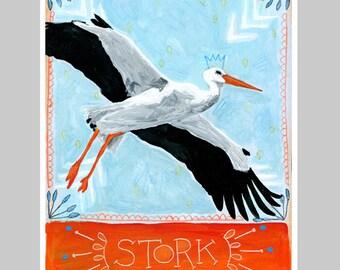 Animal Totem Print - Stork
