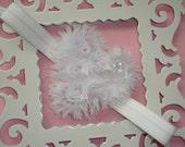 Valentines Infant Headband-White
