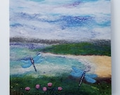 Seathrift and Dragonflies Large Printed Greetings Card
