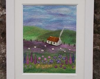 Felt Landscape Picture Gardener's Cottage
