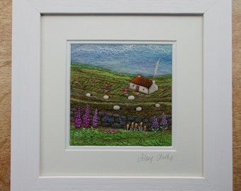 Needle Felted Landscape Picture 'Taigh Na Fial'