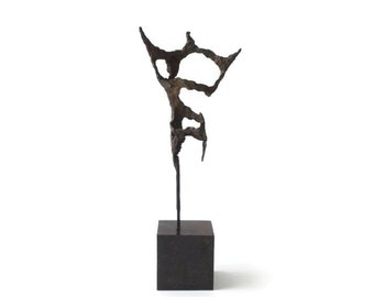 Modernist Abstract Cast Metal Sculpture by Ruth Trobe
