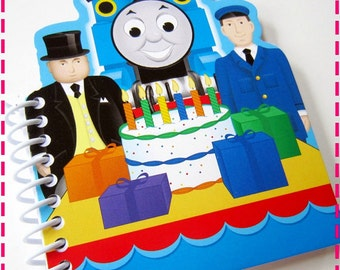 TRAIN Recycled Notebooks / Upcycled Journal - Kids' Party Pack of (12) - Birthday Party Train Favors - Eco Friendly