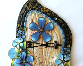 Blue Flower Fairy Door