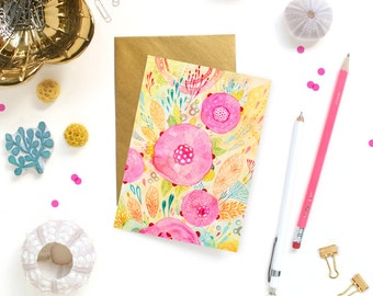 Card - Note Card - Rose