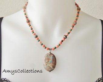 Imperial Turquoise, Jasper and Candy Jade Necklace