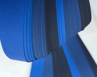 """50% off* 1/2"""" Weaving Paper Strips~ Deep Blues (92 strips)"""