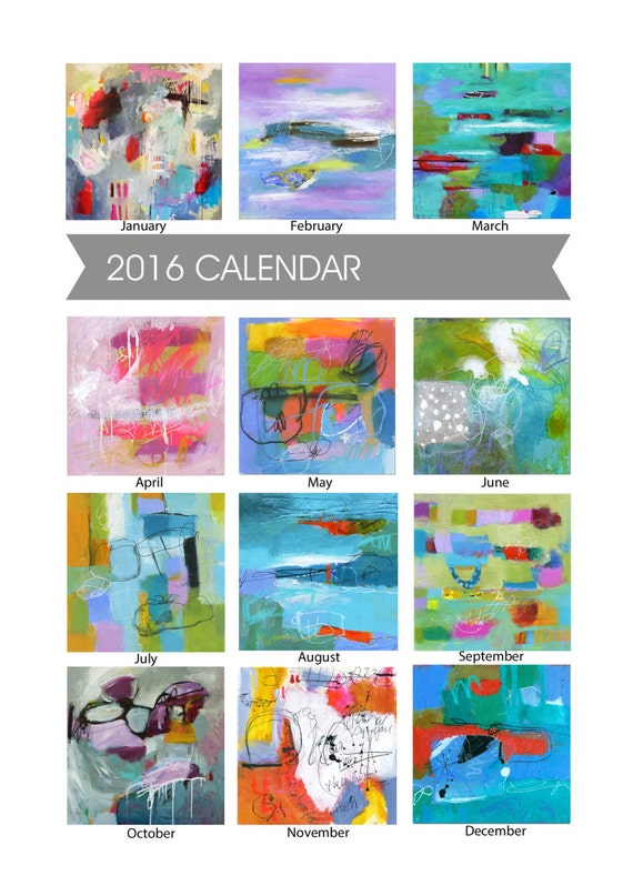 Calendar Abstract Art : Items similar to calendar fine art wall or