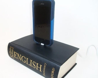IPhone 5 or 6 Charging Dock, Oxford English Dictionary Blue Book, IPod Docking Charger Station