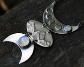 RESERVED - Once in a Blue Moon - moonstone and sterling silver necklace
