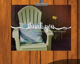 Thank You Card / Wedding Thank You Card / Garden Thank You Card / Thank You / Backyard Thank You / Personalized Thank You