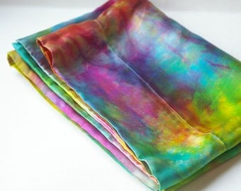 Silk Pillowcase :  CUSTOM DYED Standard Size Slip (100% Silk Charmeuse, You Choose Colours))