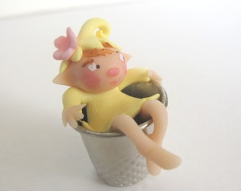 Fairy on a thimble