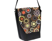 Backpack Convertible Bag - Shoulder Bag - Cross Body Purse - iPad Purse -3 in 1 bag- REMOVABLE FLAP - Borsa Bella - Medallion Fabric