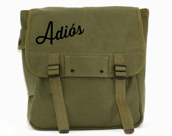 Backpack, Adios, Canvas Rucksack, Travel Bag, Hipster Backpack, Women's Laptop Backpack, Men's Backpack, School Backpack