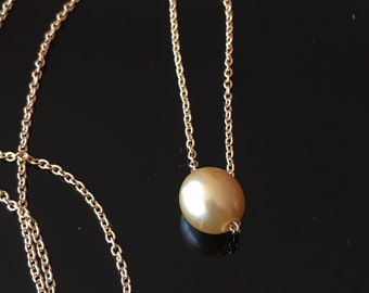Gold South Sea Pearl Necklace