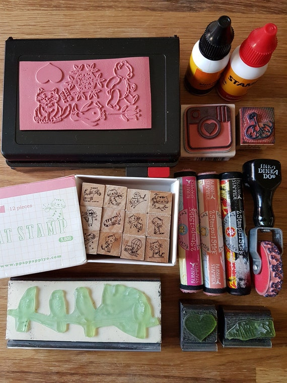 Rubber Stamps and Ink Pad Destash