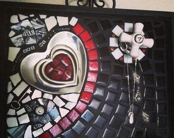 Key To My Heart Mosaic Art