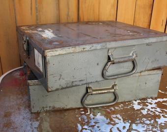 VINTAGE metal ballot box