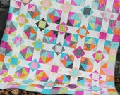 PDF Patchwork Quilt Pattern, using Layer Cakes or Fat Quarters. Baby, Lap and Twin Sizes, Mountain Reflections