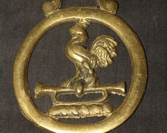Vintage or Antique Cockerel Horse Brass - British, Pagan, Wicca, Folklore - Rare