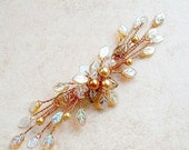 ON SALE Lothlorien Crystal Hair Vine Copper and Gold