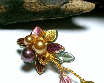 ON SALE Titania Brooch Boutonniere Hair Pin - Single or Set - Mix and Match