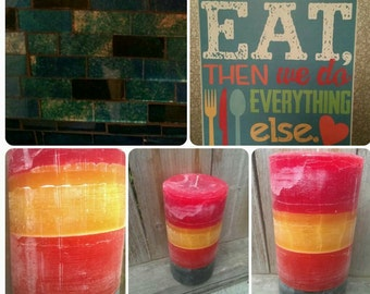 "Extra Large Pillar Candle (4"" wide) - Custom Color and Scent"