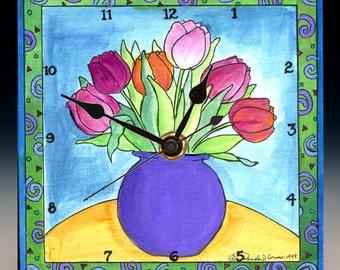 Tulips Clock