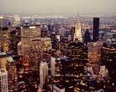 New York Photo // City Lights Urban // Large Art // Large Wall Art Print // Chrysler Building // Fine Art Travel Photography