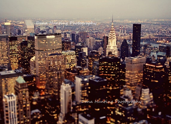 New York Photo // City Lights Urban // Large Art // Large Wall Art Print // Chrysler Building // Fine Art Travel Photography