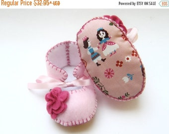 20 % off Summer Sale Cinderella Baby Booties for Girls Pink Soft Shoes for Baby Boots Baby Slippers great for Baby Shower Gift