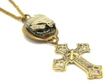 Steampunk Cross ... Steampunk Victorian Cross One of a Kind