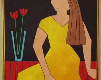 "oil painting figure 24"" X 24"""
