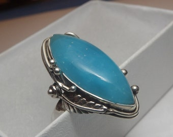 Magical stress reliever -Joy -Smithsonite Sterling Silver Ring Size 8 beautiful ring