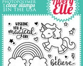 Avery Elle Clear Photopolymer Rubber Stamp Set - Be a Unicorn