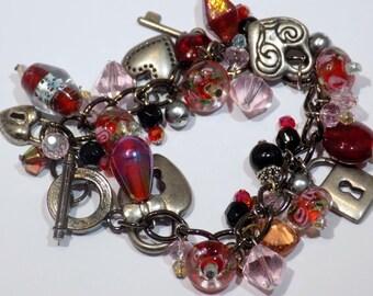 Super Chunky Charm Bracelet: Key to my Heart
