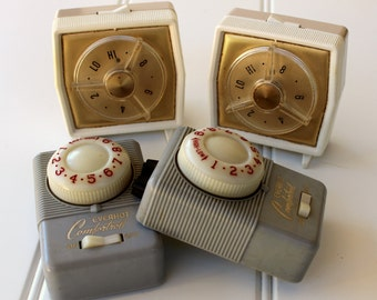 Vintage Blanket Controls - Retro Home Decor - 1950s - 1960s - Gray Gold