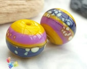 Glass Lampwork Beads Mustard Seeds Round