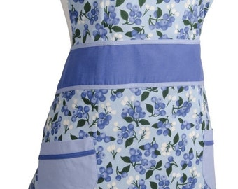 Blueberries Mother Daughter Set of Aprons