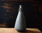 Ships Now- stoneware ceramic vase in slate matte glaze by sara paloma. Mid century modern home decor large vases handmade pottery