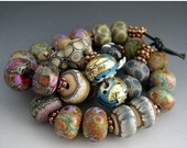 SALE Naos Glass - One of Each Bead Pair Mega Set 28 beads - Made To Order Artisan Glass Beads Handmade Lampwork Beads SRA