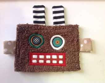 Brown Robot Patch Iron On