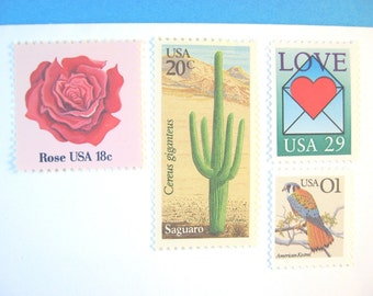 Desert Wedding Postage Stamps Unused, Love Letter Cactus Stamp, Mail 20 Invitations 2 oz 68 cent postage, Southwestern Nature Wedding Stamps