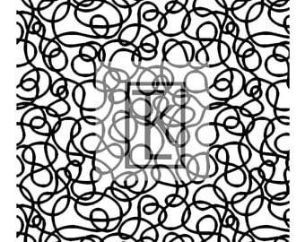 Scribbles Silk Screen