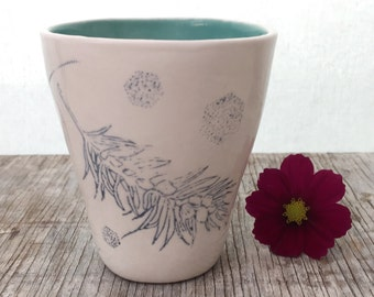 Pine Branch Porcelain Tumbler