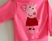 PEPPA PIG Fleece Hoodie- Peppa Pig Sweatshirt - Peppa Pig Party - Peppa Pig Birthday - Childrens Hoodie - Childens Sweatshirt