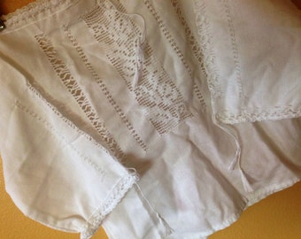 Vtg Mexican Cotton Embroidered Cut Out Top for Baby 12-24 months