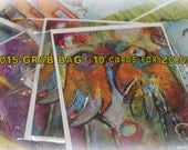 Last few packs!  Big Deal!! Grab Bag.  Save 10 dollars.  Assorted Styles  FLAT note cards by Jodi ohl