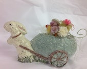 Vintage Chenille  chick Teena flanner Origin rabbit lavender